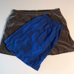 2Pairs Swim Trunk Size L Jcrew Extreme Blue Brown